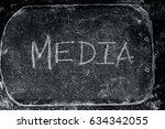 media written on a slate. | Shutterstock . vector #634342055