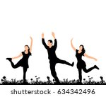 vector  silhouette of people... | Shutterstock .eps vector #634342496