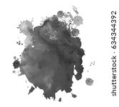 abstract watercolor grayscale... | Shutterstock .eps vector #634344392