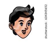 cartoon boy head sport design...   Shutterstock .eps vector #634345652