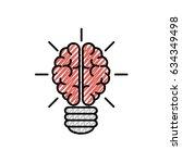 human brain design | Shutterstock .eps vector #634349498