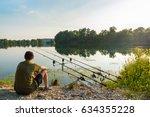 fishing adventures  carp... | Shutterstock . vector #634355228