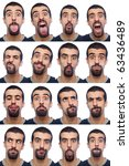 youg man collection of... | Shutterstock . vector #63436489