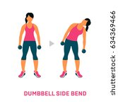 fitness  aerobic and workout... | Shutterstock .eps vector #634369466