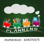 Planning Train Represening Architect Plans 3d Illustration
