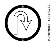 u turn arrow traffic signal icon | Shutterstock .eps vector #634371182