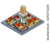 vector isometric illustration... | Shutterstock .eps vector #634371635