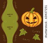 vintage halloween background... | Shutterstock .eps vector #63437251