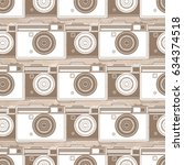graphic seamless pattern with... | Shutterstock .eps vector #634374518