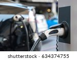 power supply for electric car... | Shutterstock . vector #634374755
