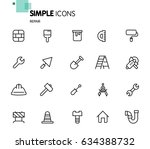 simple set of tools related... | Shutterstock .eps vector #634388732