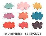 set of labels pastel colors... | Shutterstock .eps vector #634392326