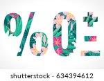 vector alphabet set. retro...   Shutterstock .eps vector #634394612
