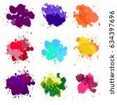 vector paint splash | Shutterstock .eps vector #634397696