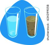 clean water and dirty water... | Shutterstock .eps vector #634399058