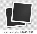 two paper photo frames.... | Shutterstock .eps vector #634401152