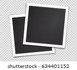 two paper photo frames.... | Shutterstock .eps vector #634401152