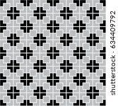 black and grey geometric...   Shutterstock .eps vector #634409792