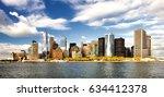 the new york city panorama | Shutterstock . vector #634412378