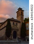 church of santa ana in granada  ... | Shutterstock . vector #634414022