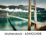 hardanger bridge   suspension... | Shutterstock . vector #634421408
