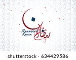 ramadan kareem written in... | Shutterstock .eps vector #634429586