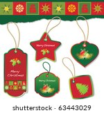 christmas label design elements   Shutterstock .eps vector #63443029