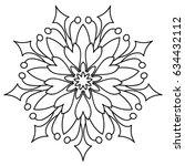 flower mandala. decorative... | Shutterstock .eps vector #634432112