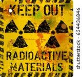radiation warning sign  vector...   Shutterstock .eps vector #634436846