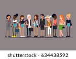 women together. cool vector... | Shutterstock .eps vector #634438592