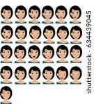young woman with twenty five...   Shutterstock .eps vector #634439045