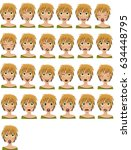 blond young woman with twenty... | Shutterstock .eps vector #634448795