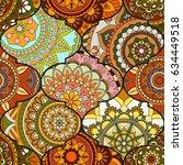patchwork pattern. vintage...   Shutterstock .eps vector #634449518