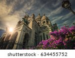 sacre coeur basilica in... | Shutterstock . vector #634455752