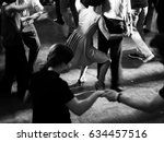 vintage style photo of dance... | Shutterstock . vector #634457516
