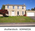 beautiful detached house with a ... | Shutterstock . vector #63446026
