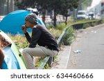 paris   may 5  2017  homeless... | Shutterstock . vector #634460666