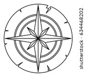 ancient compass icon in outline ...   Shutterstock .eps vector #634468202