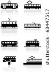 Vector Set Of Different Train...