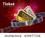 ticket cinema movie theater... | Shutterstock .eps vector #634477136