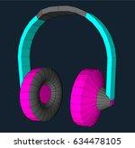 wire frame style illustration... | Shutterstock .eps vector #634478105