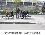 paris   may 5  2017  homeless... | Shutterstock . vector #634492466