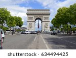paris  france circa may 2015.... | Shutterstock . vector #634494425