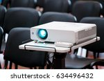 working projector at the... | Shutterstock . vector #634496432