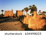 temple of luxor at sunrise ... | Shutterstock . vector #634498025