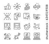 social network related vector... | Shutterstock .eps vector #634519508