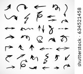 hand drawn arrows  vector set   Shutterstock .eps vector #634521458