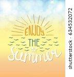 vector summer lettering on...   Shutterstock .eps vector #634532072