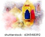 islamic muslim holiday ramadan... | Shutterstock . vector #634548392