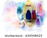 islamic muslim holiday ramadan... | Shutterstock . vector #634548425